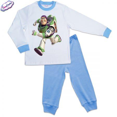 Детска пижама синьо и бяло Buzz