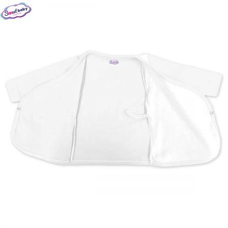 Бебешка камизолка в бяло разгъната 1