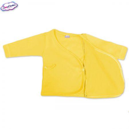 Бебешка камизолка в жълто разгъната