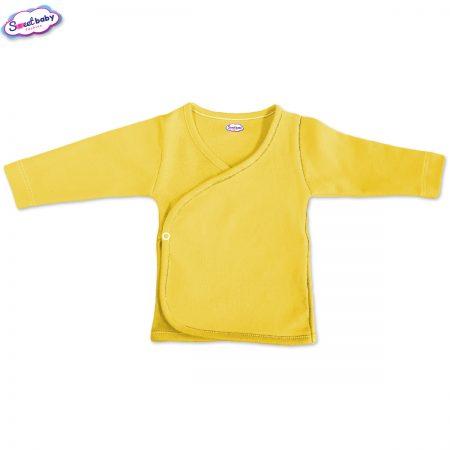 Бебешка камизолка в жълто