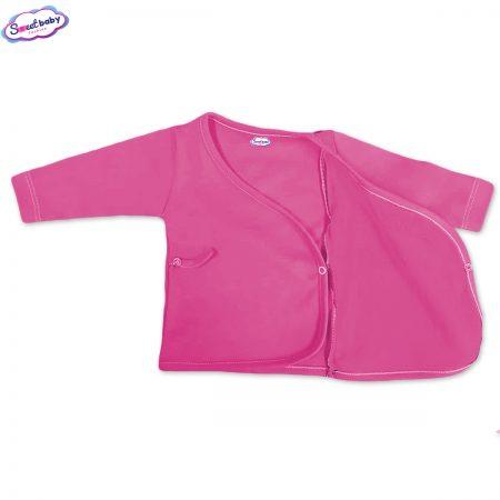 Бебешка камизолка в розово разгъната
