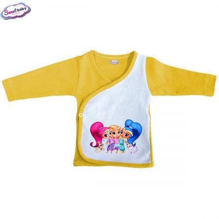 Бебешка камизолка жълто Искрящи и сияйни