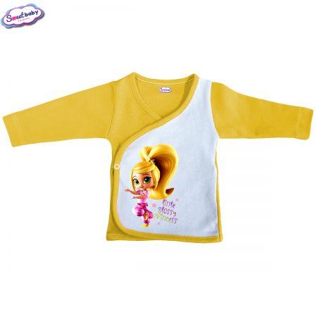 Бебешка камизолка жълто Little Glossy girl