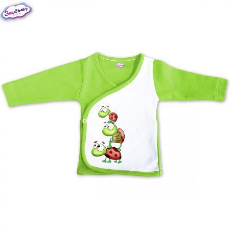 Бебешка камизолка зелено Трите костенурчета