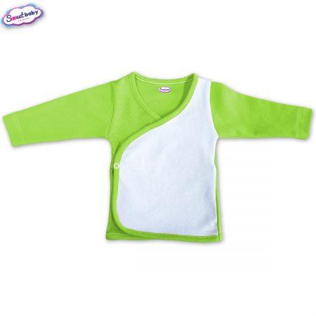 Бебешка камизолка зелено и бяло