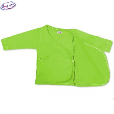Бебешка камизолка зелено разгъната