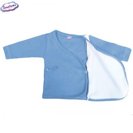 Бебешка камизолка синьо и бяло разгъната