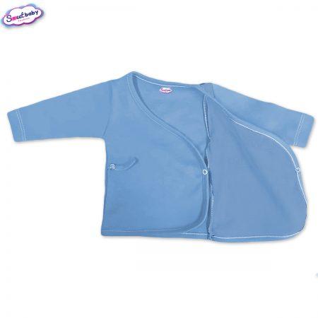 Бебешка камизолка синьо разгъната