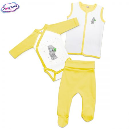 Бебешки жълт сет Детелинки