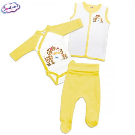 Бебешки жълт сет Жирафчета