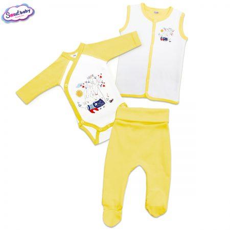 Бебешки жълт сет Заешко селфи
