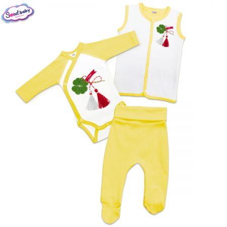Бебешки жълт сет Късмет