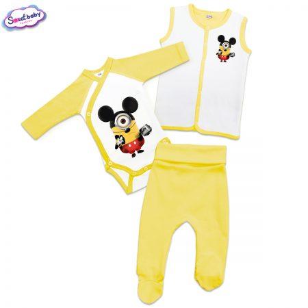 Бебешки жълт сет Миньон Мики Маус