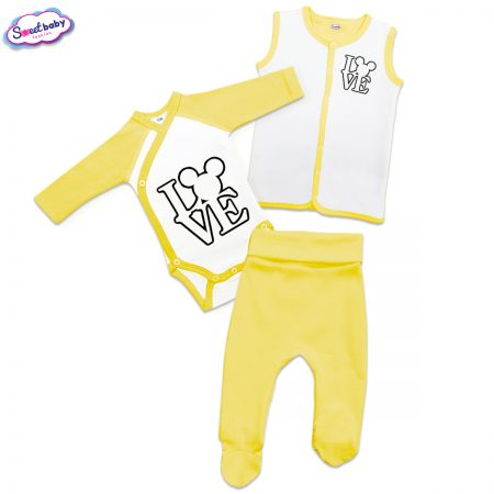 Бебешки жълт сет Lovemaus