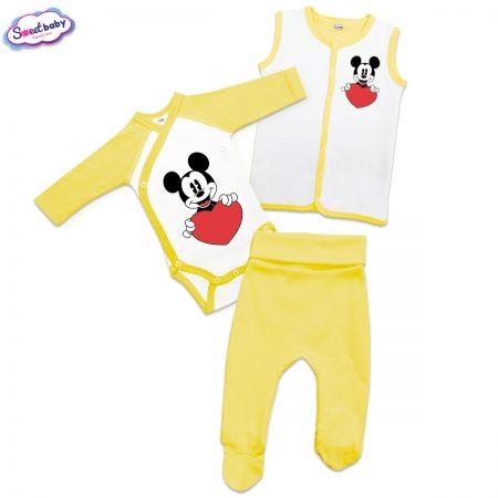 Бебешки жълт сет Lovemiki