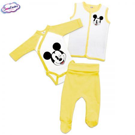 Бебешки жълт сет Miki