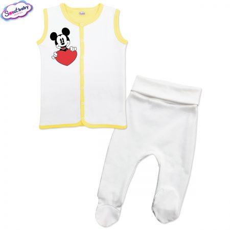 Бебешки сет бяло и жълто Lovemiki