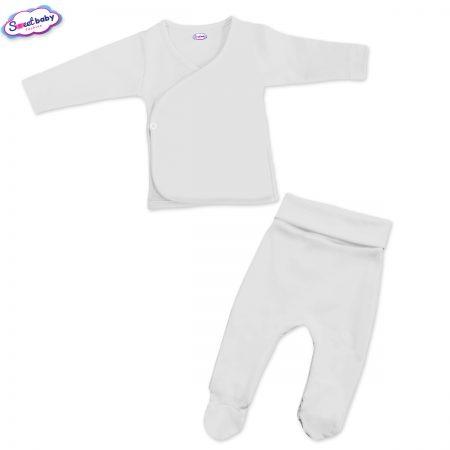 Бебешки сет камизолка и ританки бяло