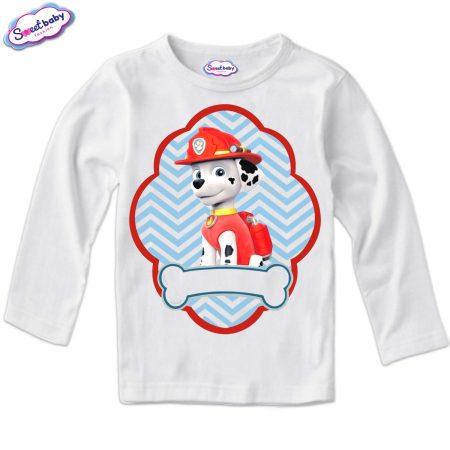Детска блуза в бяло Маршал