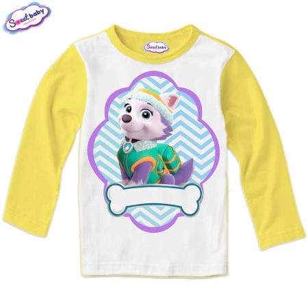 Детска блуза жълто и бяло Еверест