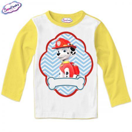Детска блуза жълто и бяло Маршал