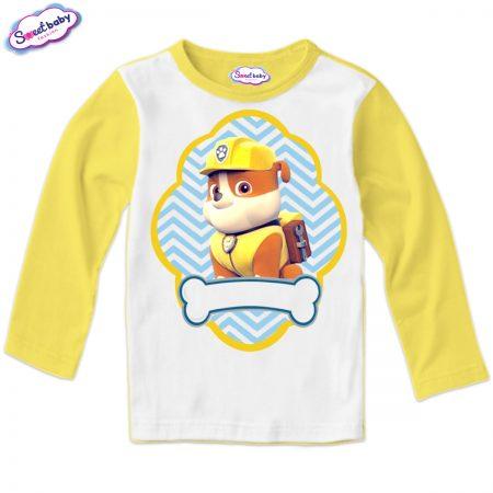 Детска блуза жълто и бяло Руби