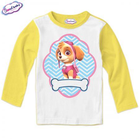 Детска блуза жълто и бяло Скай