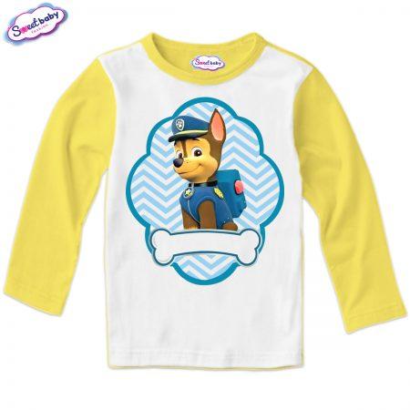 Детска блуза жълто и бяло Чейс