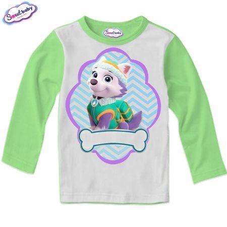 Детска блуза зелено и бяло Еверест