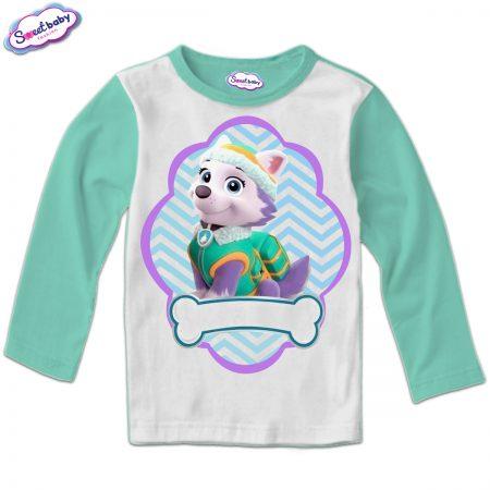 Детска блуза мента и бяло Еверест