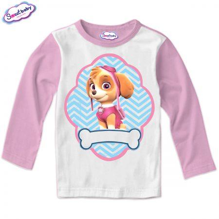 Детска блуза розово и бяло Скай
