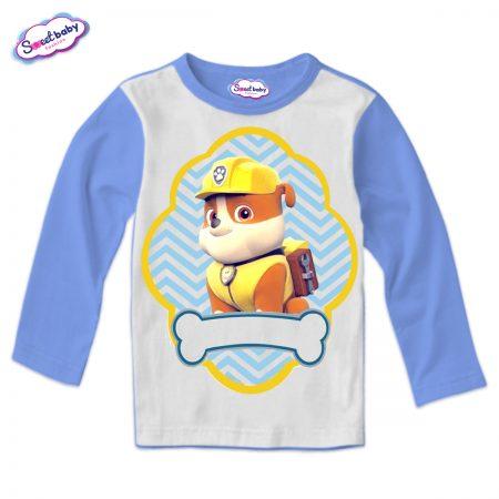 Детска блуза синьо и бяло Руби