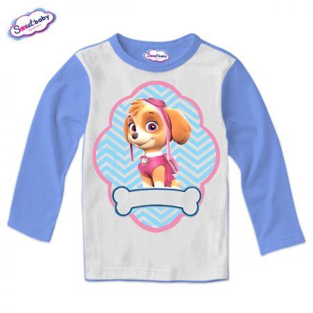 Детска блуза синьо и бяло Скай