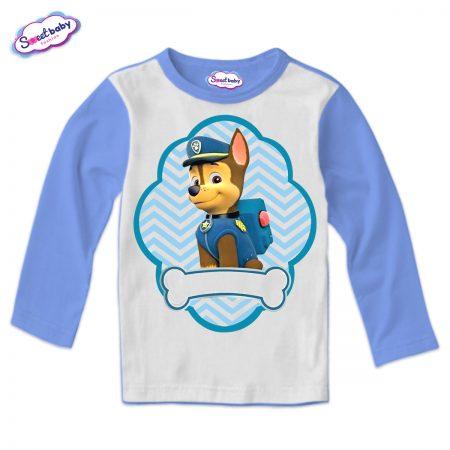 Детска блуза синьо и бяло Чейс