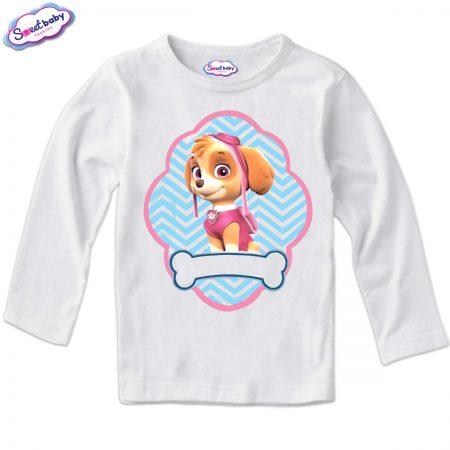 Детска блузка в бяло Скай
