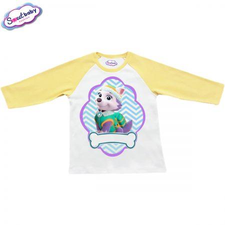 Детска блузка жълто и бяло Еверест