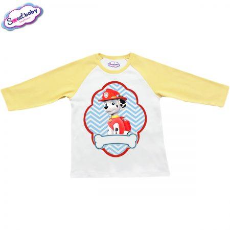 Детска блузка жълто и бяло Маршал