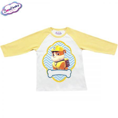 Детска блузка жълто и бяло Руби