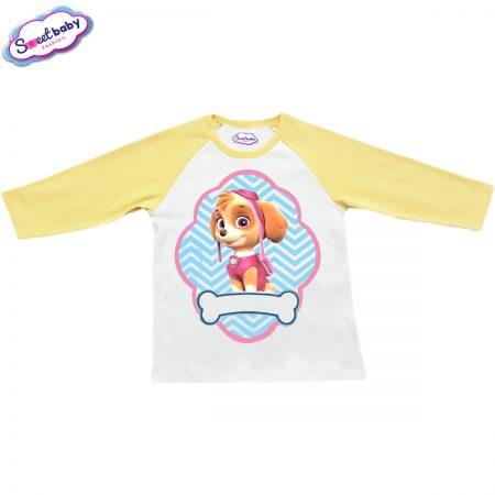 Детска блузка жълто и бяло Скай