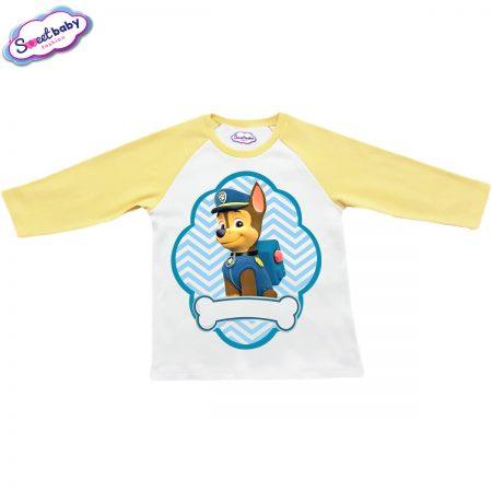 Детска блузка жълто и бяло Чейс