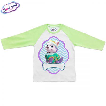 Детска блузка зелено и бяло Еверест