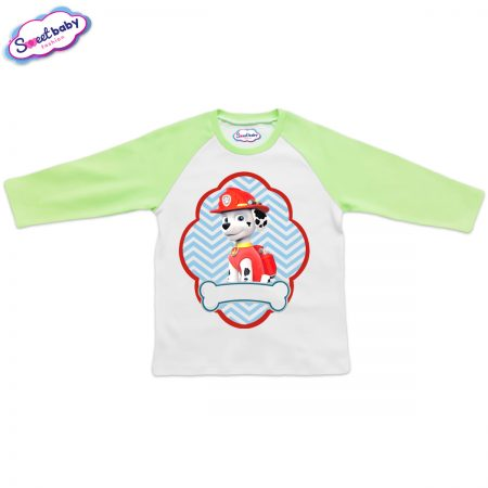Детска блузка зелено и бяло Маршал