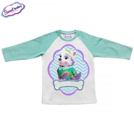 Детска блузка мента и бяло Еверест
