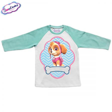 Детска блузка мента и бяло Скай