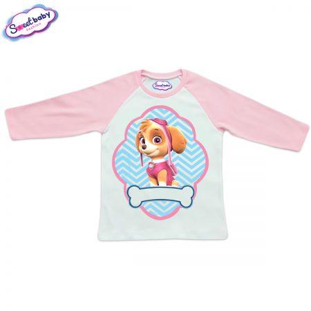Детска блузка розово и бяло Скай