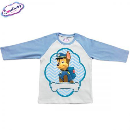 Детска блузка синьо и бяло Чейс