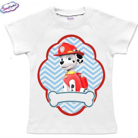 Детска тениска в бяло Маршал
