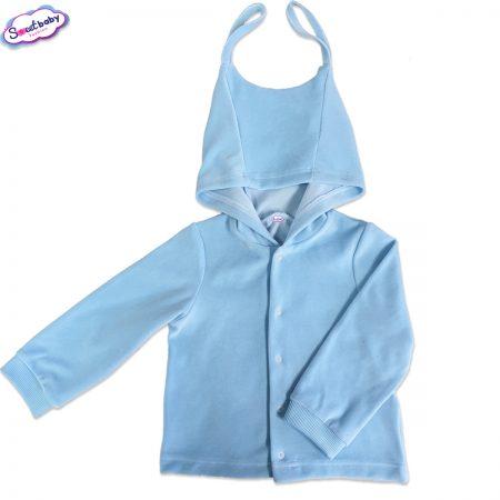 Детски плюшен суитшърт в синьо