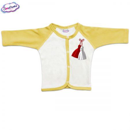 Бебешка жилетка в жълто Мартеница
