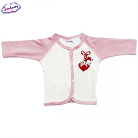 Бебешка жилетка в розово Мартеничка